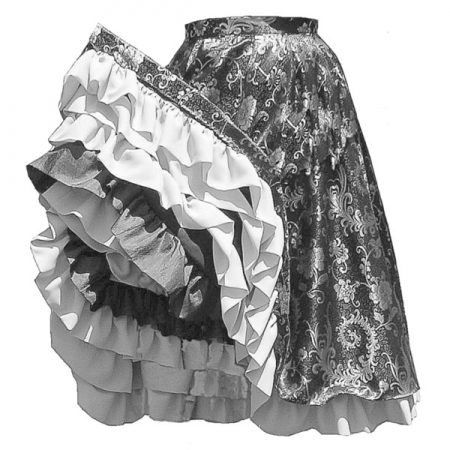 TV280 – Can-Can Skirt pattern image