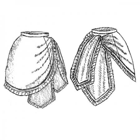 V301 – 1870s Tie-Apron Overskirt pattern image