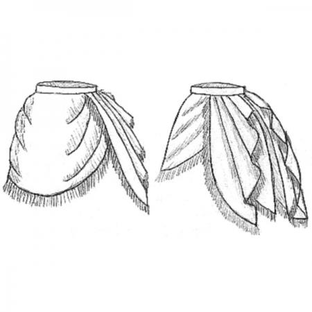 Side Drape Overskirt