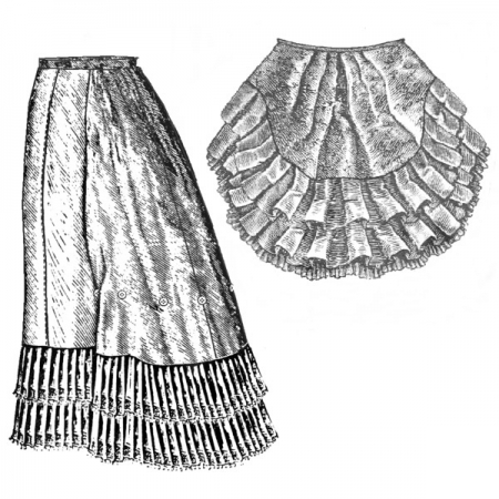 1879 Petticoat w/Train