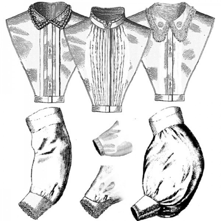 1860s Chemisettes and Undersleeves pattern image